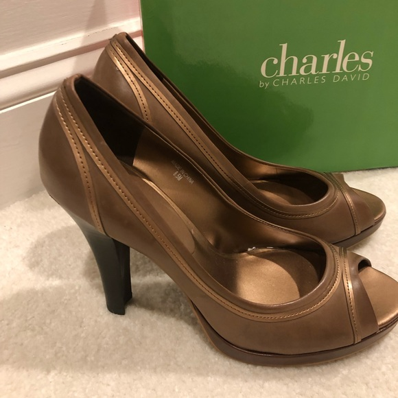 "Charles David Shoes - Charles David ""Hamilton "" Brown leather shoes"